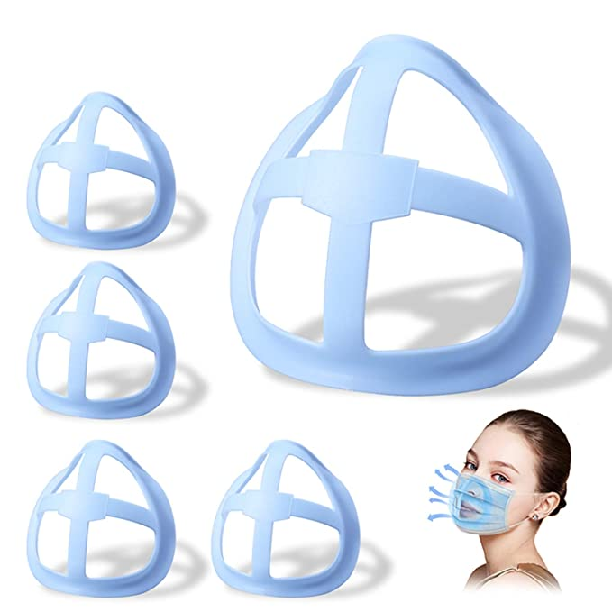 DIY Face Bandanas Accessories Internal Support Holder Frame Nose Breathing smoothly 3D Mas-k Bracket Inner Support YAWEIE Protect Lipstick Lips 2PCS, White