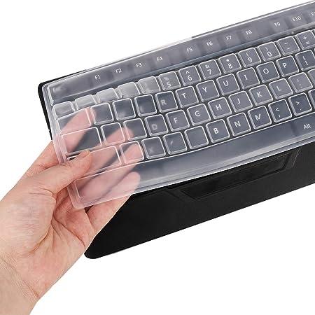 Didatecar - 2 PCS Protector de teclado universal para teclado estándar de escritorio con teclas 104/107, a prueba de polvo