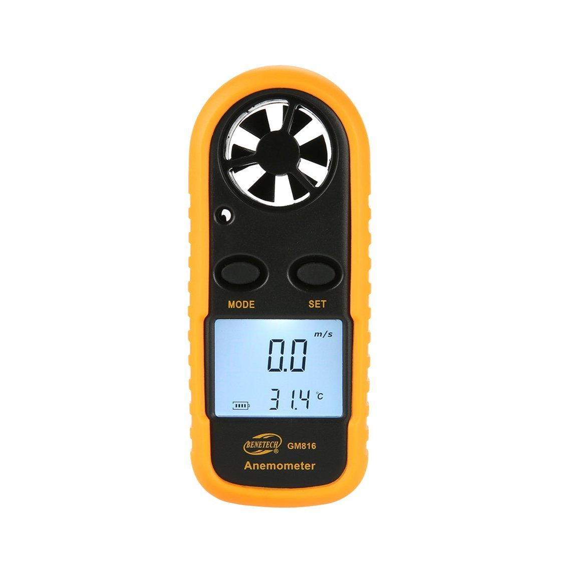 Exiao BENETECH GM816 Digital Anemometer Thermometer Wind Speed Air Velocity Airflow Temperature Gauge Windmeter with LCD Backlight