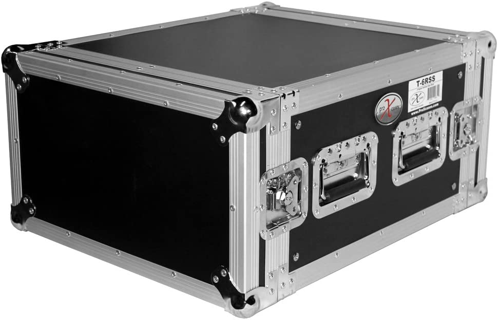ProX Cases T-6RSS 6U Road Gig Ready Flight Case 6 Space Amp Rack