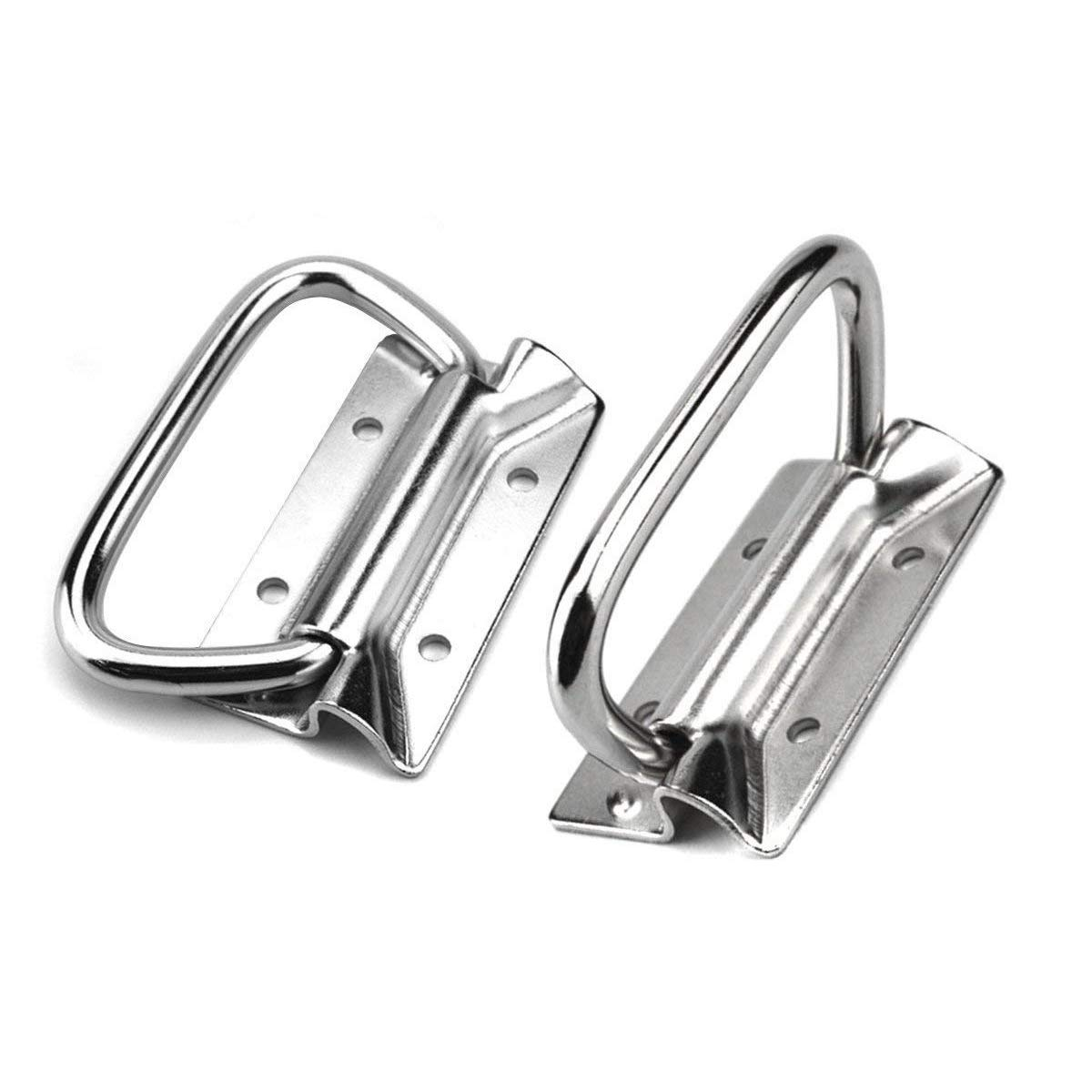 Stainless Steel Pull Handles for Toolbox Lifting Door Chest 4 Inch (2pcs)