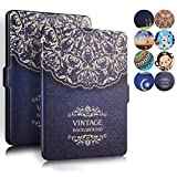 Kindle Paperwhite Case, AICOO YCL Slim Auto Wake/Sleep Magnetic Closure Book Flip PU Leather Case Cover For eBook Reader Kindle Paperwhite All Versions 2012, 2013, 2014 and 2015 - Flower Vine