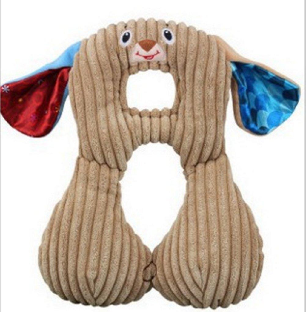 RockFoxOutlet Baby cartoon animal shaped neck pillow / Travel Pillow / U-shaped pillow /car seat cushion,magnet interlocking /360° Seamless ring / PPreversible memory cotton neck pillow . (dog)