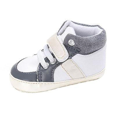 0-18 mois chaussures de bébé, Amlaiworld Fille Garçon semelle molle Chaussure Sneakers (1/0-6m, Blanc)