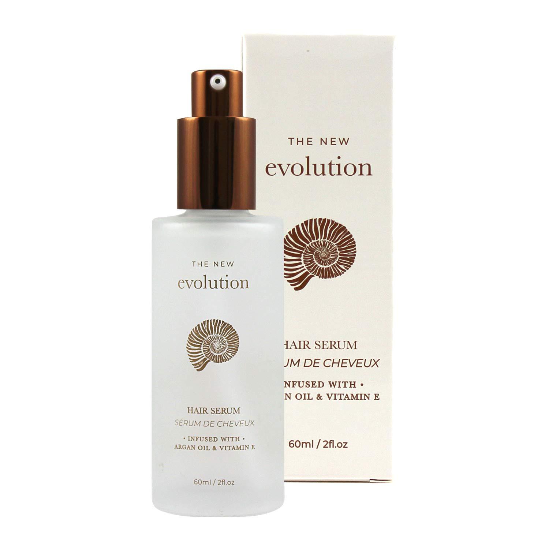 Evolution Argan Oil Serum For Hair - Vitamin E Hair Serum To Soften Dry Hair - Nourishing Serum For Hair Straightening - Hair Serum With Aloe Vera (1 Pack) by HerStyler