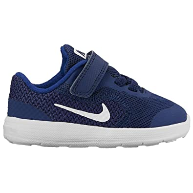 Nike Kids Revolution 3 (TDV) Running Shoe, Binary White/deep Royal