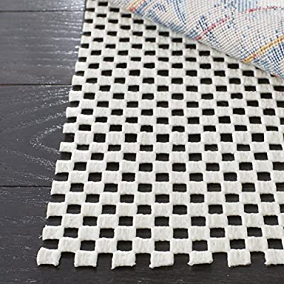 Safavieh Padding Collection PAD111 White Runner, 2 feet by 12 feet (2' x 12') - These pads will keep your tapestries and rugs safe from accidental slipping, without scratching or damaging the floor beneath Add safety and durability to your space with a rug pad that is integral to protecting your surroundings and investment Each rug pad allows maximum air circulation through an open weave construction making vacuuming easy - runner-rugs, entryway-furniture-decor, entryway-laundry-room - 61KI1HNggUL. SS400  -