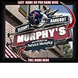 Houston Texans Personalized NFL Football Hangout Sports Pub Man Cave Framed Art Print 13x16 Inches
