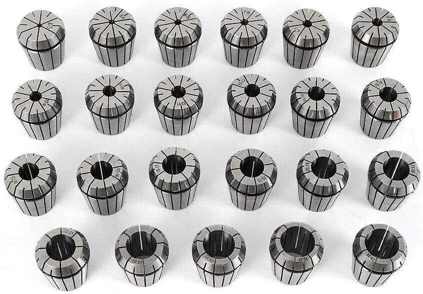 WUPYI2018 ER40 23-tlg Spannzangen Satz Spannzangenfutter f/ür Industrie Fr/äsmaschinen Spannzangenfutterset 4-26mm Spannzangenset Collet chuck set