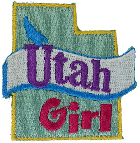 Utah Girl 2 inch small Iron on Patch - Place Lake Salt Fashion City