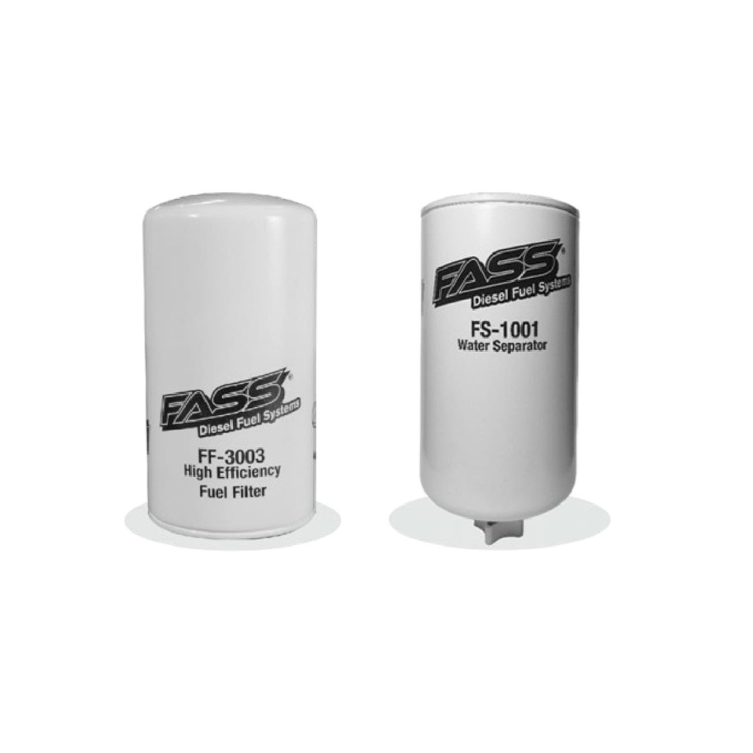 FASS Titanium Series Fuel Filter and Water Separator Combo With FF-3003 Fuel Filter and FS-1001 Water Separator for Fuel Pump