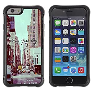 BullDog Case@ New York City Vignette Sepia Street Rugged Hybrid Armor Slim Protection Case Cover Shell For iPhone 6 Plus CASE Cover ,iphone 6 5.5 case,iPhone 6 Plus cover ,Cases for iPhone 6 Plus 5.5