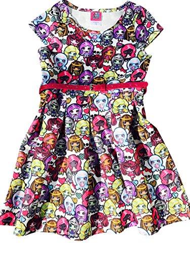 Monster High Clothes For Girls (Monster High Scuba Skater Dress With Sparkle Belt Size 6/6X)