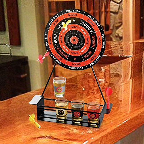Drinking Game Set Glass Shooters Darts And Target Board