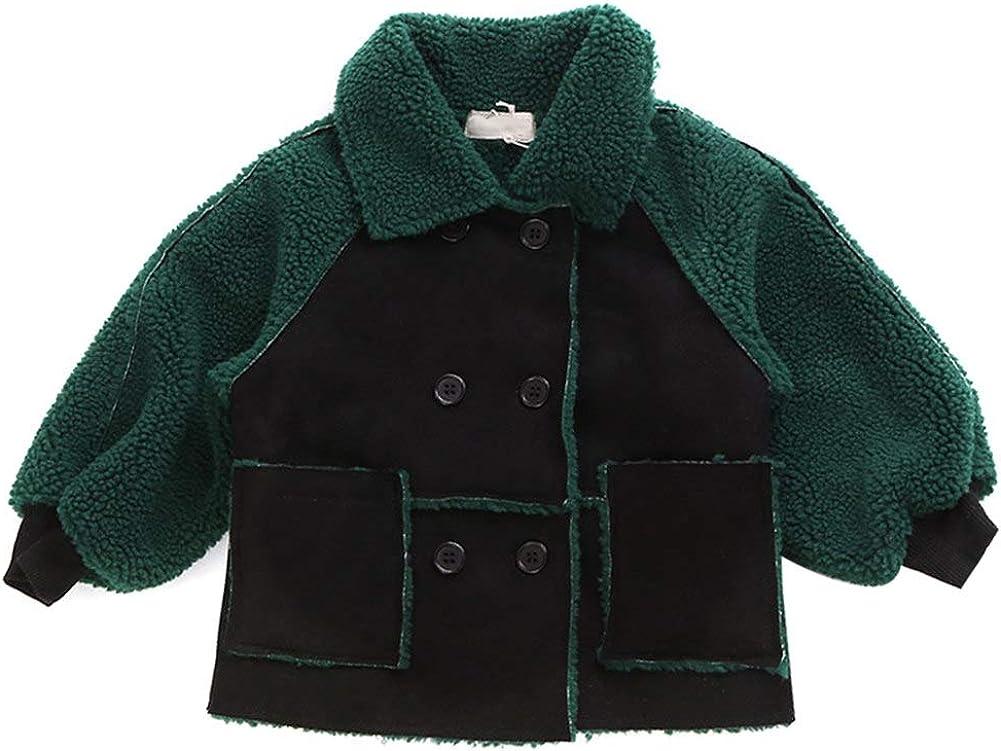 Happy childhood Baby Boys Gilrs Autumn Winter Fleece Jacket Cost Double Breated Waistcoat Cool Outwear