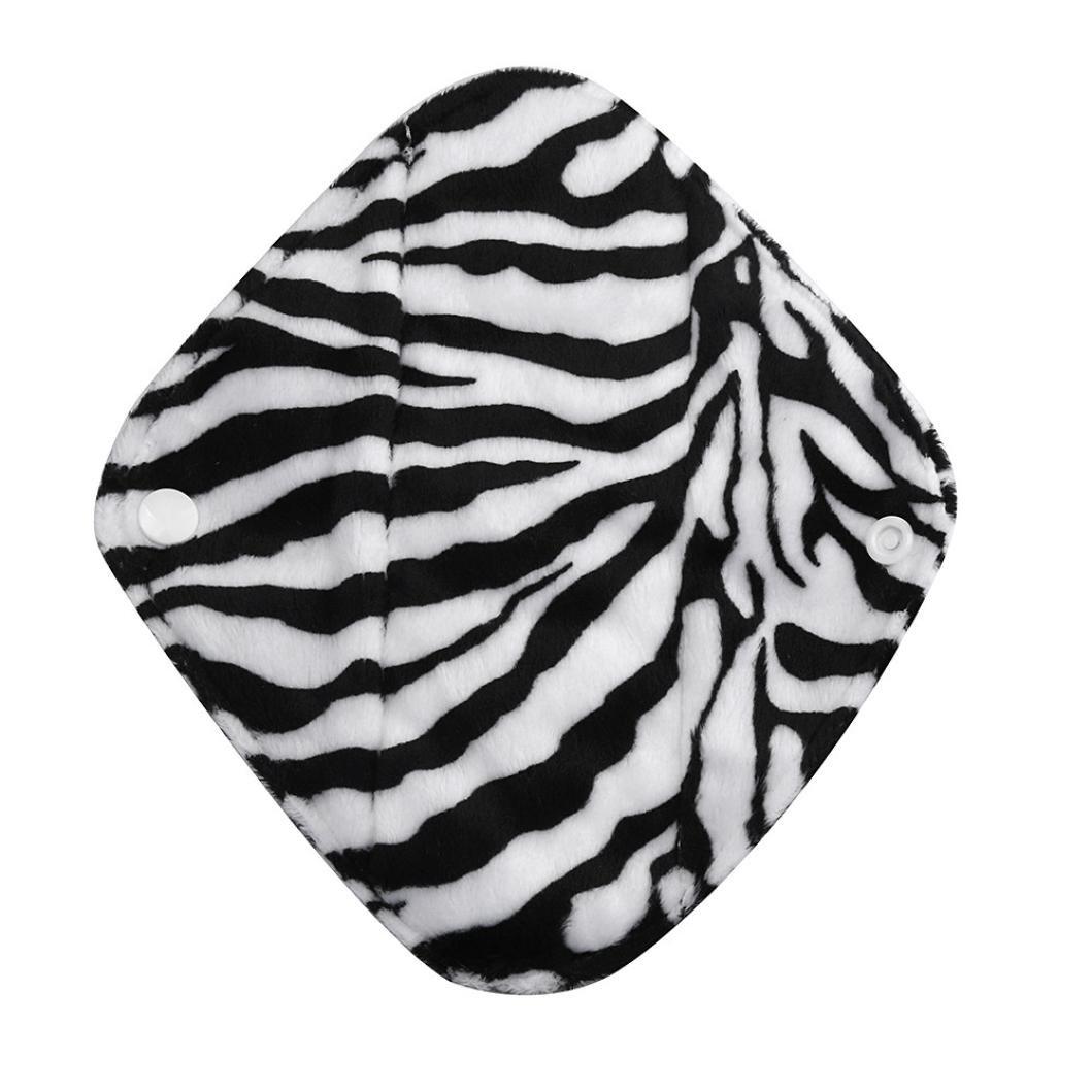 Covermason Environmentally Friendly Reusable Bamboo Cloth Washable Menstrual Pad Mama Sanitary Towel Pad Panty Liner (L, Black)