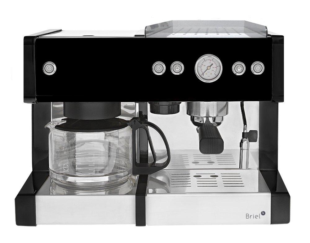 Briel ED278E IN - Cafetera combinada espresso/goteo, 1,8 l, 1260 W ...