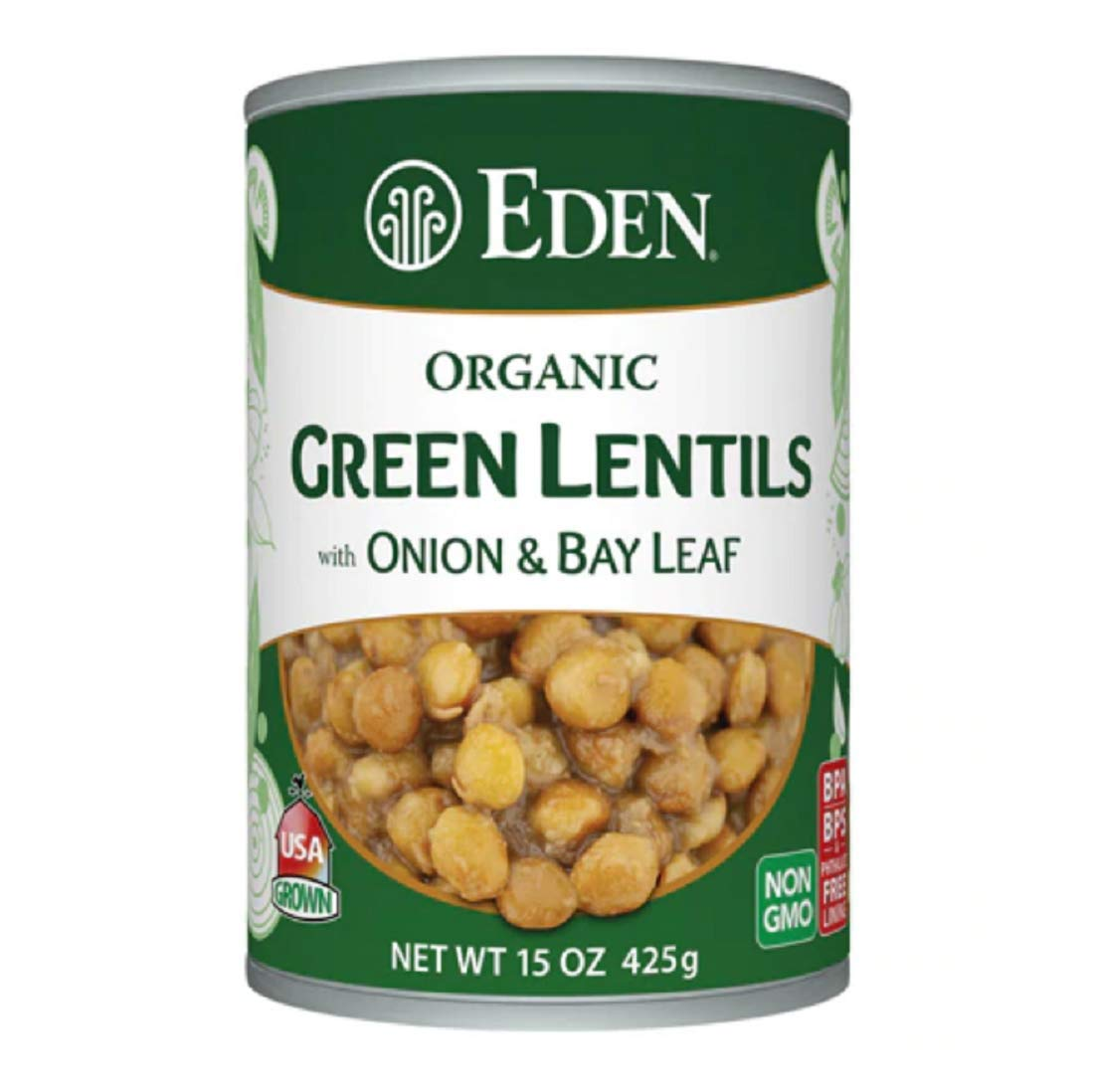 Eden Organic Lentils with Onion and Bay Leaf, 15-Ounce Cans (Pack of 12)