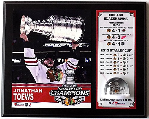 Sports Integrity 16256 12 x 15 in. Jonathan Toews 2013 Stanley Cup Plaque with Stanley-Cup Ice (Print Plaque Ice)