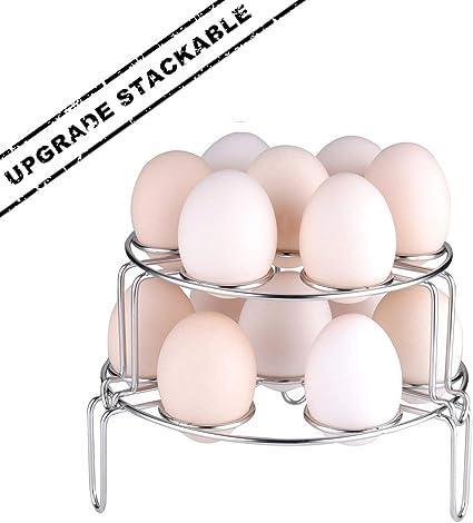 Versión actualizada Steamer rack, moveland apilable huevo verduras al vapor rack soporte para Instant Pot olla a presión