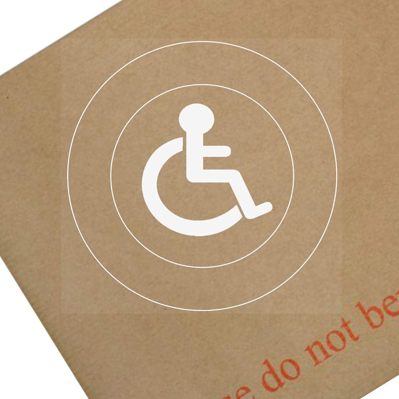 Platinum Place Fensteraufkleber Motiv Behinderten Logo Rund Für Auto Abzeichen Hinweise Warnung Rollstuhl Fahrer Blau 1 Stück Auto