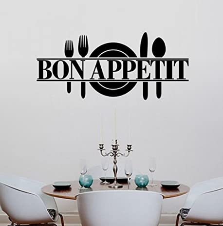 Amazon.com: BIBITIME Bon Appetit Vinyl Kitchen Lettering Wall ...