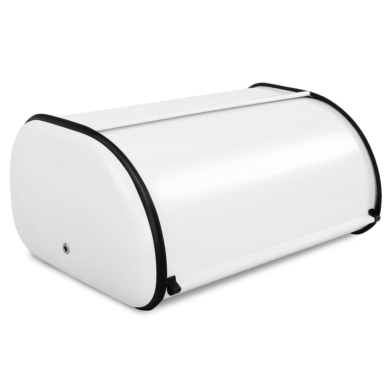 Recinto Panificadora casa pura® recinto conservación pan | recinto acero inoxidable alimentos | 3 colores - Bernd, acero inoxidable, blanco, 43.5 x 27 x 17 ...