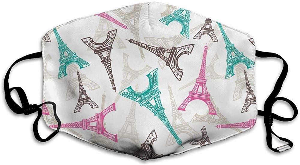 Olive Helin(a) Máscara de Boca de Polvo de algodón Reutilizable de Moda Francesa de la Torre Eiffel, mascarillas con máscara de Filtro de Carbono PM2.5