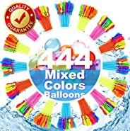 FEECHAGIER Water Balloons for Kids Girls Boys Balloons Set Party Games Quick Fill 444 Balloons 12 Bunches for