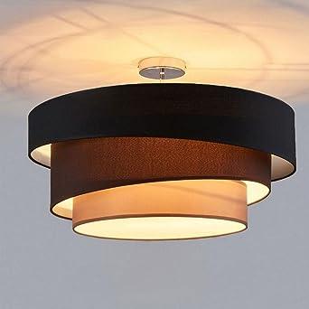 Modern Deckenleuchte Design 3-Flammig Lampe 3-Schicht Stoff ...