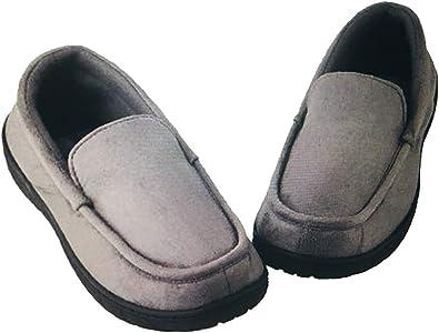 Memory Foam Slippers (M, Gray