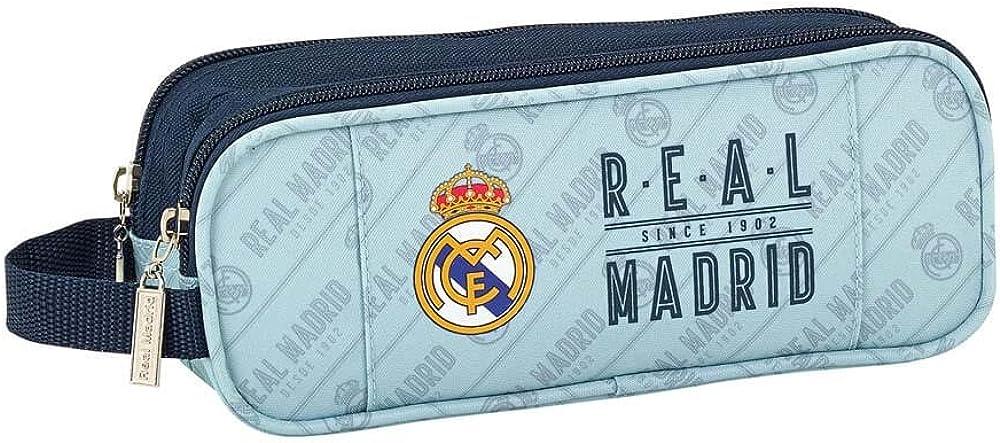 Safta Estuche Real Madrid Corporativa Oficial Escolar 210x60x80mm: Amazon.es: Ropa y accesorios
