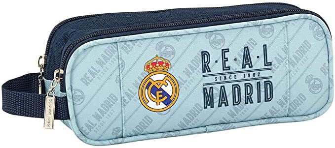 Safta Estuche Real Madrid Corporativa Oficial Escolar 210x60x80mm: Amazon.es: Ropa y accesorios