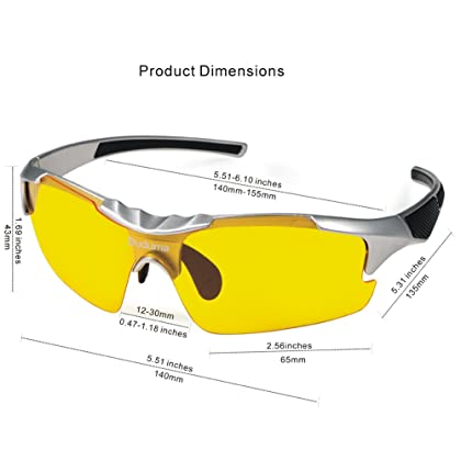 fa49801fae2 ... Duduma Yellow Night Vision Polarized Sunglasses Glasses for Driving  Fishing Shooting Multicolor Frame Uv400 (silver ...