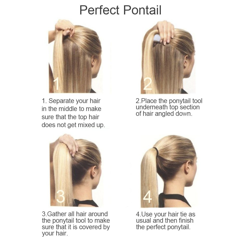 Amazon.com  Beauty Hair Ponytail Holder and Enhancer   Perfect Volume and  Lift Styling Tools for Hairstyle   Bump Insert Thicker Hair Poofy Topsy  Tail ... 91efc46baaf