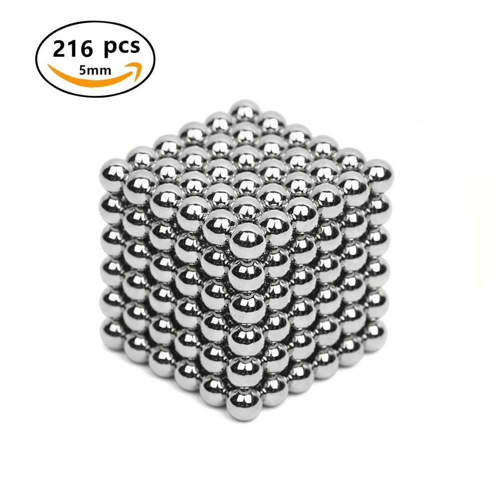 Acacia Person Magnets Blocks Sculpture Toys with 216pcs and 5mm for Intelligence Development and Stress Relief,Great For Office School Home Education