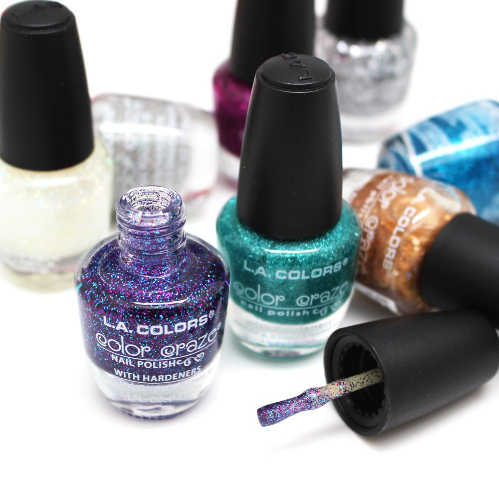 Game nail color workshop - Amazon Com L A Colors Color Craze Nail Polish 24pc Set 2 In 24 Tropical Colors Opi Nail Enamel Gift Set Beauty