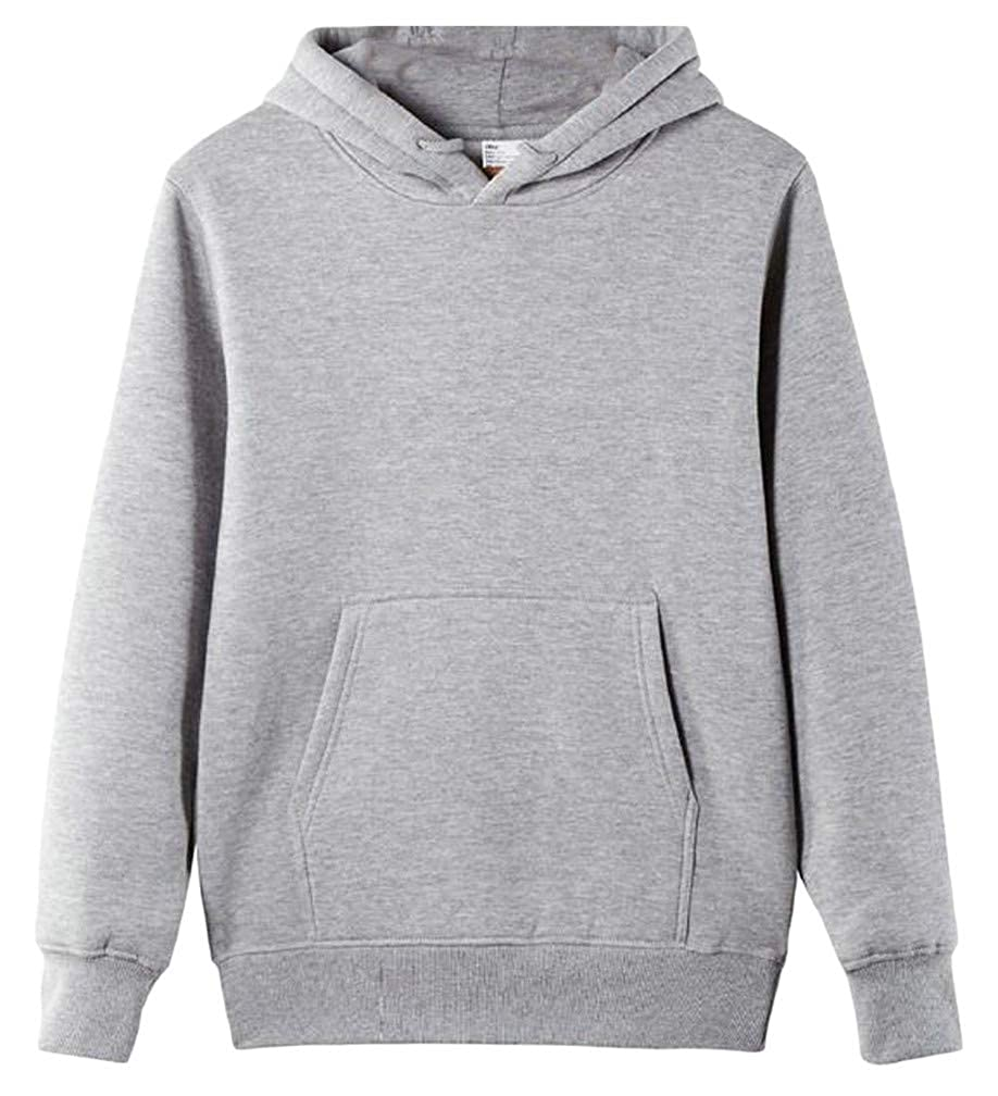 Mocilation Mens Fleece Pullover Drawstring Pocket Running Hooded Sweatshirts