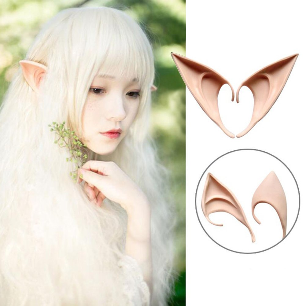 Yimosecoxiang Yimosecoxiang New di trucco di Halloween festival speciale offre 1/ paio morbido lungo artificiale Elf EARS Halloween Prop Cosplay Club party supplies