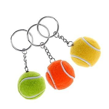 Homyl 3 Unidades de Llavero En Forma de Pelota de Tenis ...