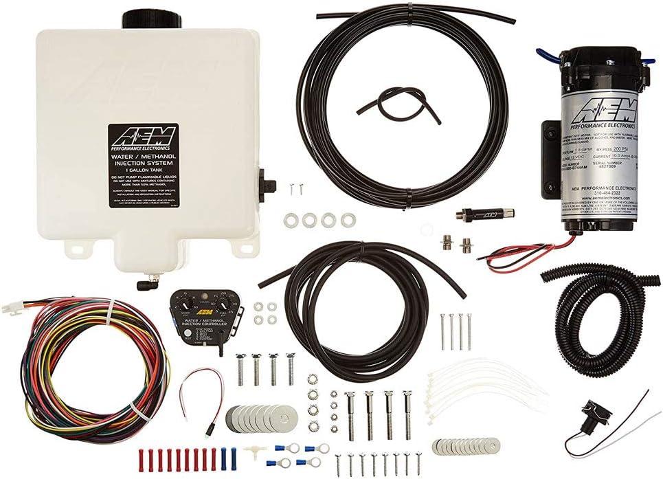 AEM 30-3300 V2 Kit para la Inyección de Agua/Metanol con Interna del Map, 1 galón Tanque