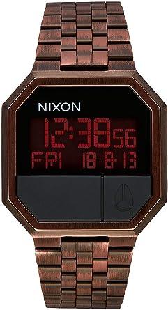 Nixon re-Run Reloj para Hombre Digital de Cuarzo con Brazalete de Acero Inoxidable A158894: Amazon.es: Relojes