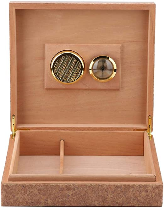 Caja de Cigarros Cedro Vintage Mini Humidor de Cuero Portátil Caja ...