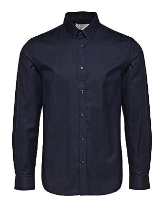 JACK   JONES PREMIUM Herren Hemd, Blau (Dark Blue), L  Amazon.de ... 7bd376902c