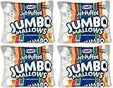 Jet-Puffed VEBJERRW Jumbo Marshmallows, 4 Packs of 8 (24 Ounce/Bag)