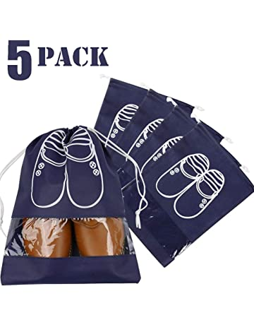 Storage Bags Home & Garden Portable Travel Waterproof Shoe Bags Travel Bag Dust-proof Drawstring Closure Shoes Storage Non-woven Fabric Household Storage Reliable Performance