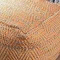 Bella Orange Fabric Pouf
