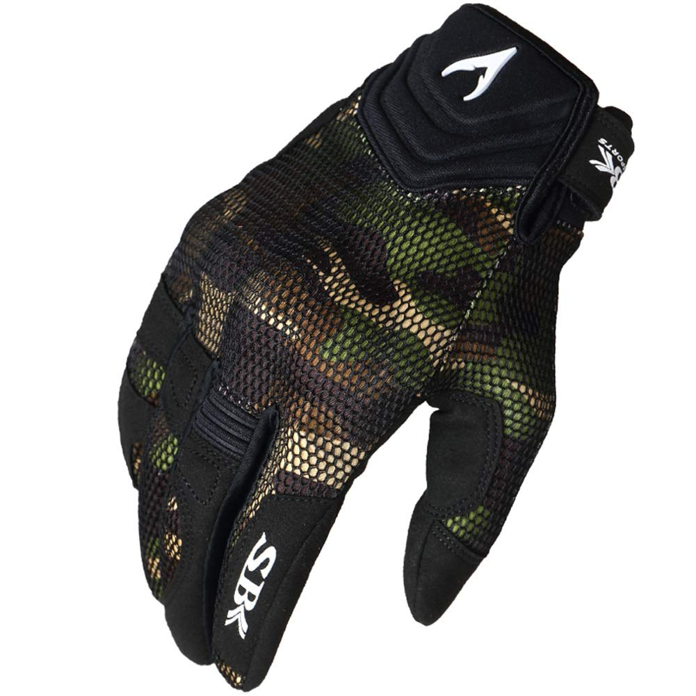 AINIYF Full Finger Motorcycle Gloves| Summer Men's Cavalier Breathable Drops Sports Gloves Cycling Locomotive Touch Screen Racing Fall (Color : Green, Size : S)
