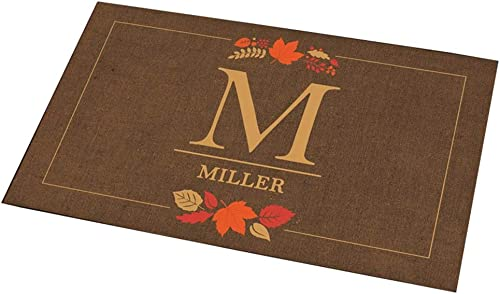 GiftsForYouNow Fall Monogram Personalized Doormat, 18 x 30