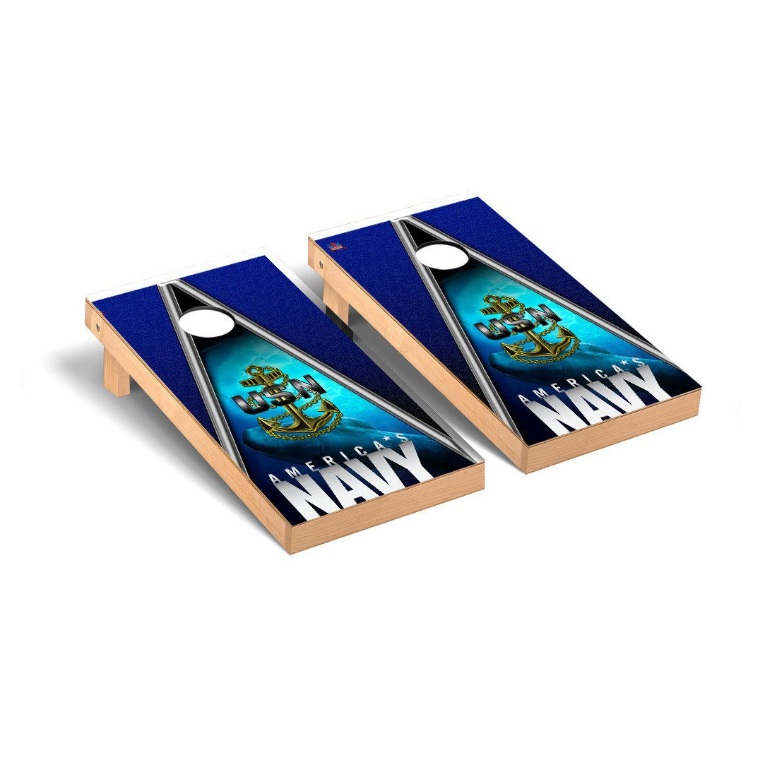 US Navy Submarine Regulation Cornhole Game Set Triangle Version